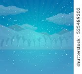 winter and christmas background.... | Shutterstock .eps vector #525489202