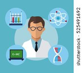 character medical scientist... | Shutterstock .eps vector #525491692