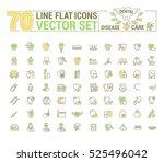 vector set. flat graphic icon ... | Shutterstock .eps vector #525496042