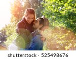 young couple visiting paris | Shutterstock . vector #525498676