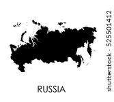 russia map in white background | Shutterstock .eps vector #525501412