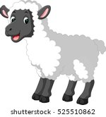 cute sheep cartoon | Shutterstock .eps vector #525510862