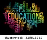 education word cloud collage ... | Shutterstock .eps vector #525518362