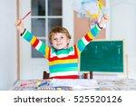 portrait of cute happy school... | Shutterstock . vector #525520126