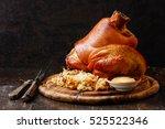 roasted pork knuckle eisbein...   Shutterstock . vector #525522346