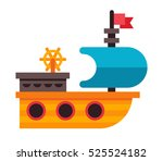 illustration of a toy ship in... | Shutterstock . vector #525524182