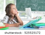 student girl at classroom | Shutterstock . vector #525525172