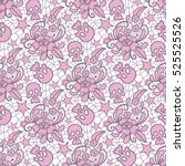 vector seamless pattern. lace... | Shutterstock .eps vector #525525526