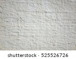 White Brick Wall Background....