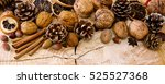 christmas decoration with... | Shutterstock . vector #525527368