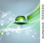 background with a drop of dew... | Shutterstock . vector #525532342