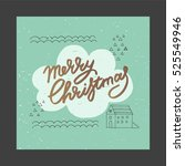 christmas and new year design... | Shutterstock .eps vector #525549946