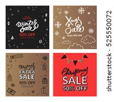 set of christmas and new year... | Shutterstock .eps vector #525550072