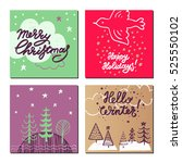 christmas and new year design... | Shutterstock .eps vector #525550102
