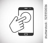 touch screen mobile  | Shutterstock .eps vector #525553036