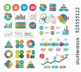 business charts. growth graph.... | Shutterstock . vector #525555112