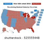 this is how usa voted in the... | Shutterstock .eps vector #525555448