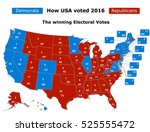 this is how usa voted in the... | Shutterstock .eps vector #525555472