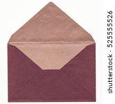 vintage looking pink letter... | Shutterstock . vector #525555526