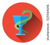 bowl of hygieia  serpent.... | Shutterstock .eps vector #525564646