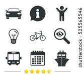 transport icons. car  bicycle ... | Shutterstock . vector #525565546