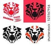 tiger head flat vector...   Shutterstock .eps vector #525567916