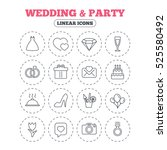 wedding and party icons. dress  ... | Shutterstock . vector #525580492