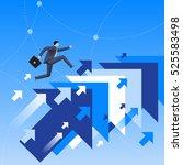 running up to success business...   Shutterstock .eps vector #525583498