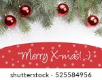 christmas decoration background ... | Shutterstock . vector #525584956