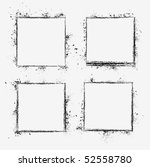 collection of grunge borders.... | Shutterstock .eps vector #52558780