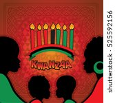 greeting card for kwanzaa with... | Shutterstock .eps vector #525592156