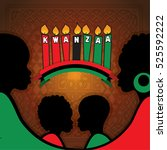 greeting card for kwanzaa with... | Shutterstock .eps vector #525592222