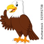 cute eagle cartoon | Shutterstock . vector #525592738