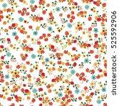 simple cute pattern in small... | Shutterstock .eps vector #525592906