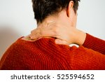 pain neck. the back man | Shutterstock . vector #525594652