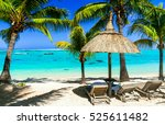 relaxing tropical holidays with ... | Shutterstock . vector #525611482
