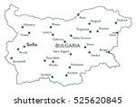 vector map of bulgaria  ... | Shutterstock .eps vector #525620845