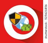 globe banknote banking safe... | Shutterstock .eps vector #525621856