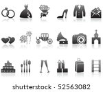 set of minimalistic wedding... | Shutterstock .eps vector #52563082