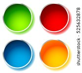 bright and glossy circle shape  ... | Shutterstock . vector #525632878