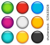 glossy colorful circle  sphere  ...   Shutterstock . vector #525633028