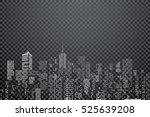 white windows on city skylines  ... | Shutterstock .eps vector #525639208