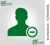 add user sign icon. add friend... | Shutterstock .eps vector #525642406