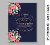 wedding invitation printable... | Shutterstock .eps vector #525643306