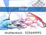 fiscal   abstract digital... | Shutterstock . vector #525644992