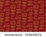 christmas seamless background... | Shutterstock .eps vector #525645676