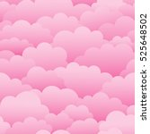 Pink Clouds. Seamless Vector...