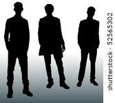 silhouette men | Shutterstock .eps vector #52565302