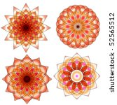 orange and red vector ornament... | Shutterstock .eps vector #52565512