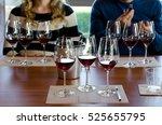 wine tasting experience in... | Shutterstock . vector #525655795